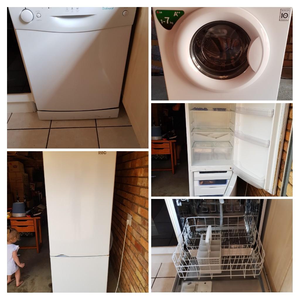 Combo - dishwasher, washing machine and fridge
