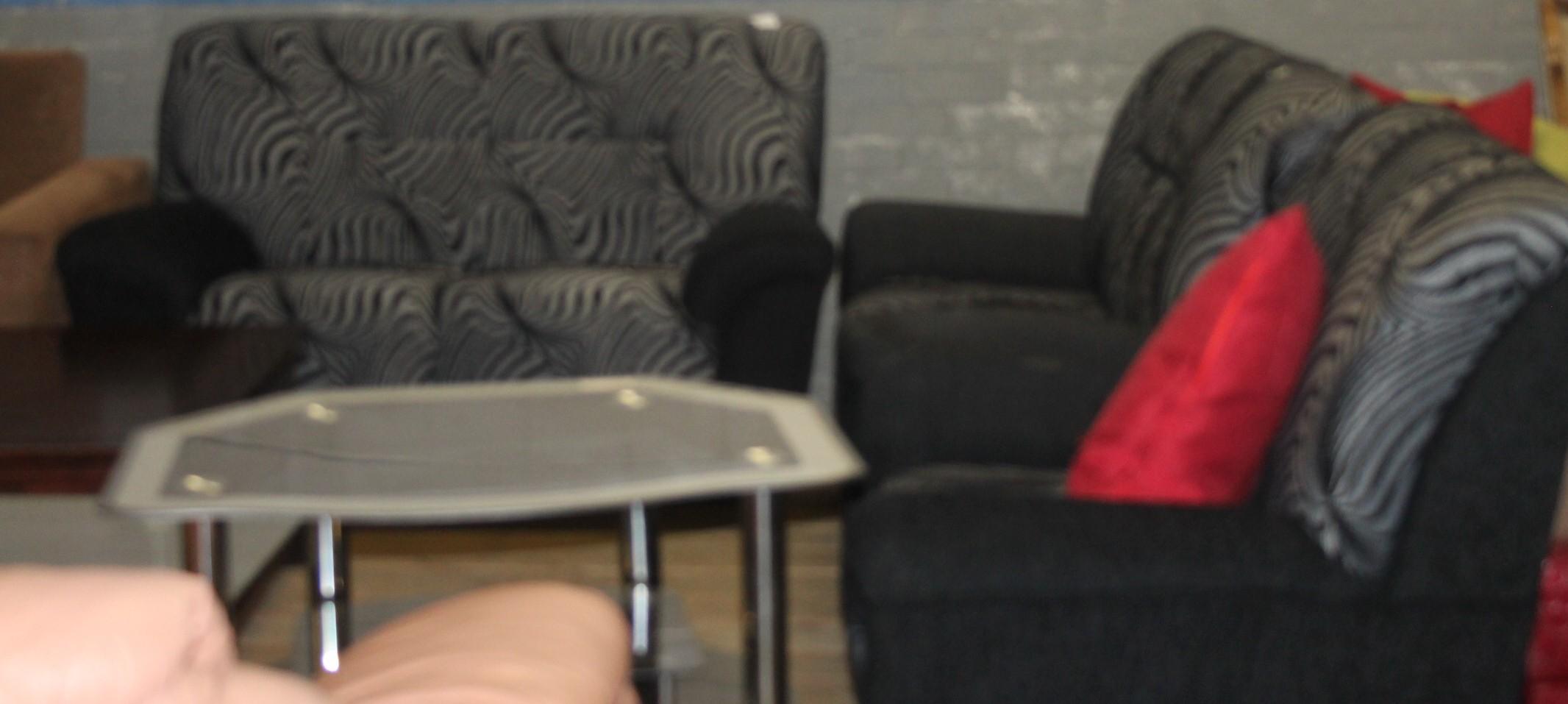Black lounge suite s028095b #Rosettenvillepawnshop