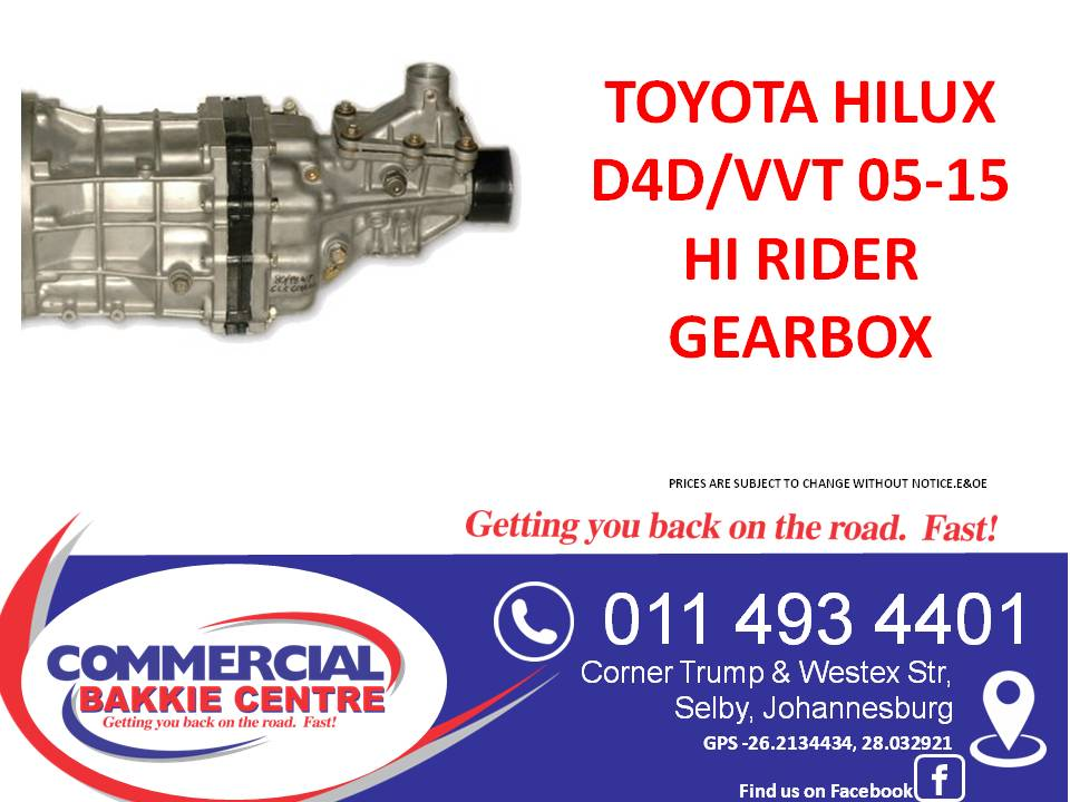 Toyota hilux d4d high rider gearbox new