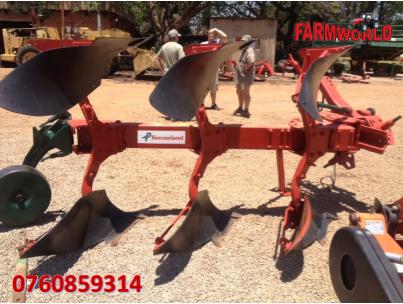S2733 Red Kverneland LD85 3 Furrow Reversable Plough / 3 Skaar Omslag Ploeg Pre-Owned Implement