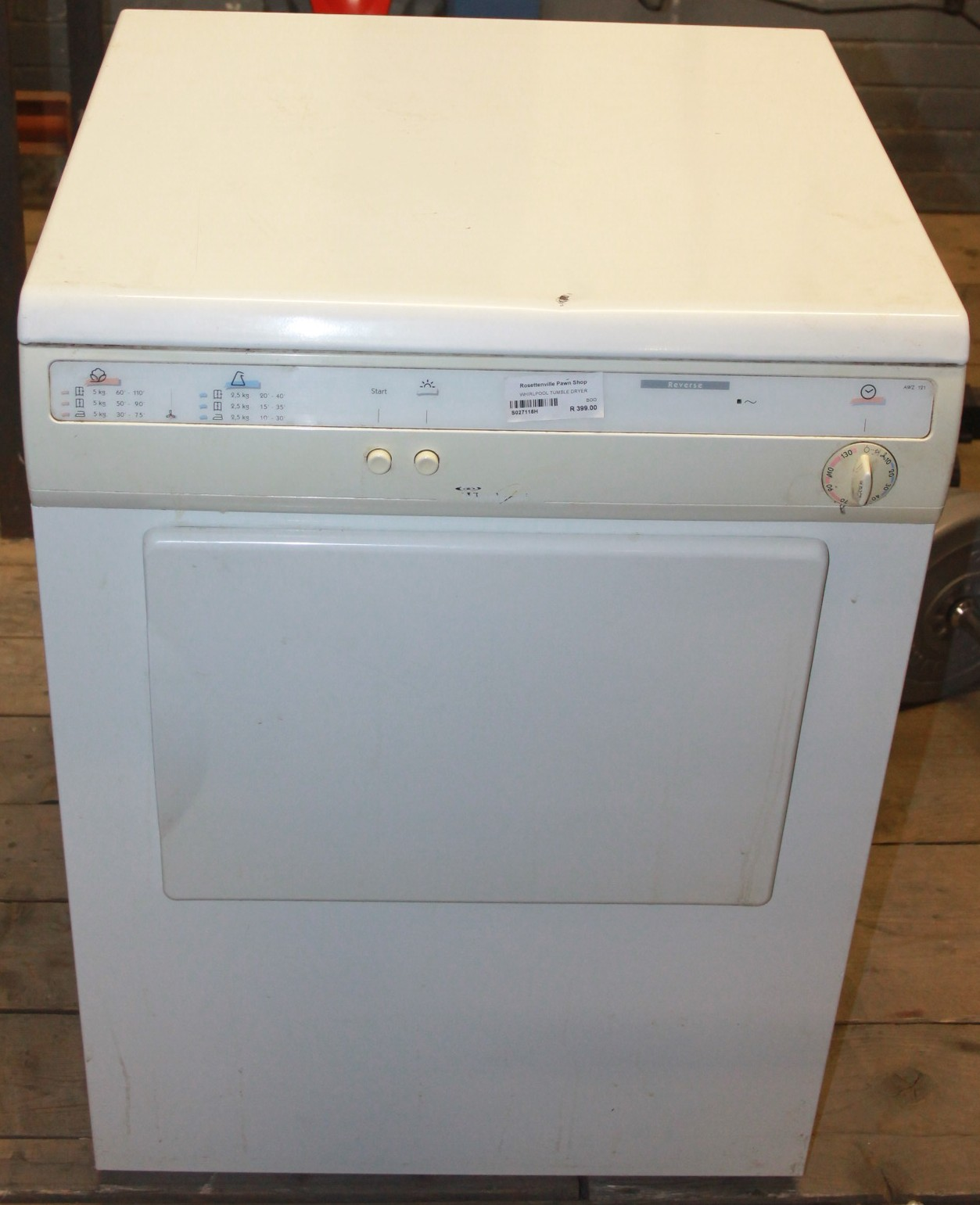 Whirlpool tumble dryer S027118h #Rosettenvillepawnshop