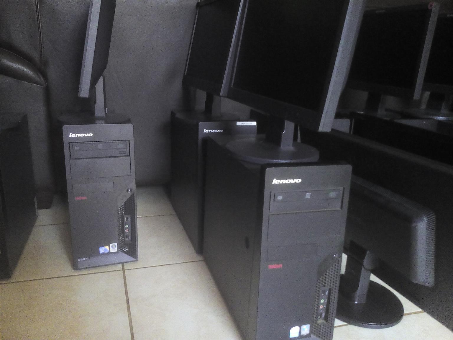 LENOVO COMPUTERS. COMPLETE SET