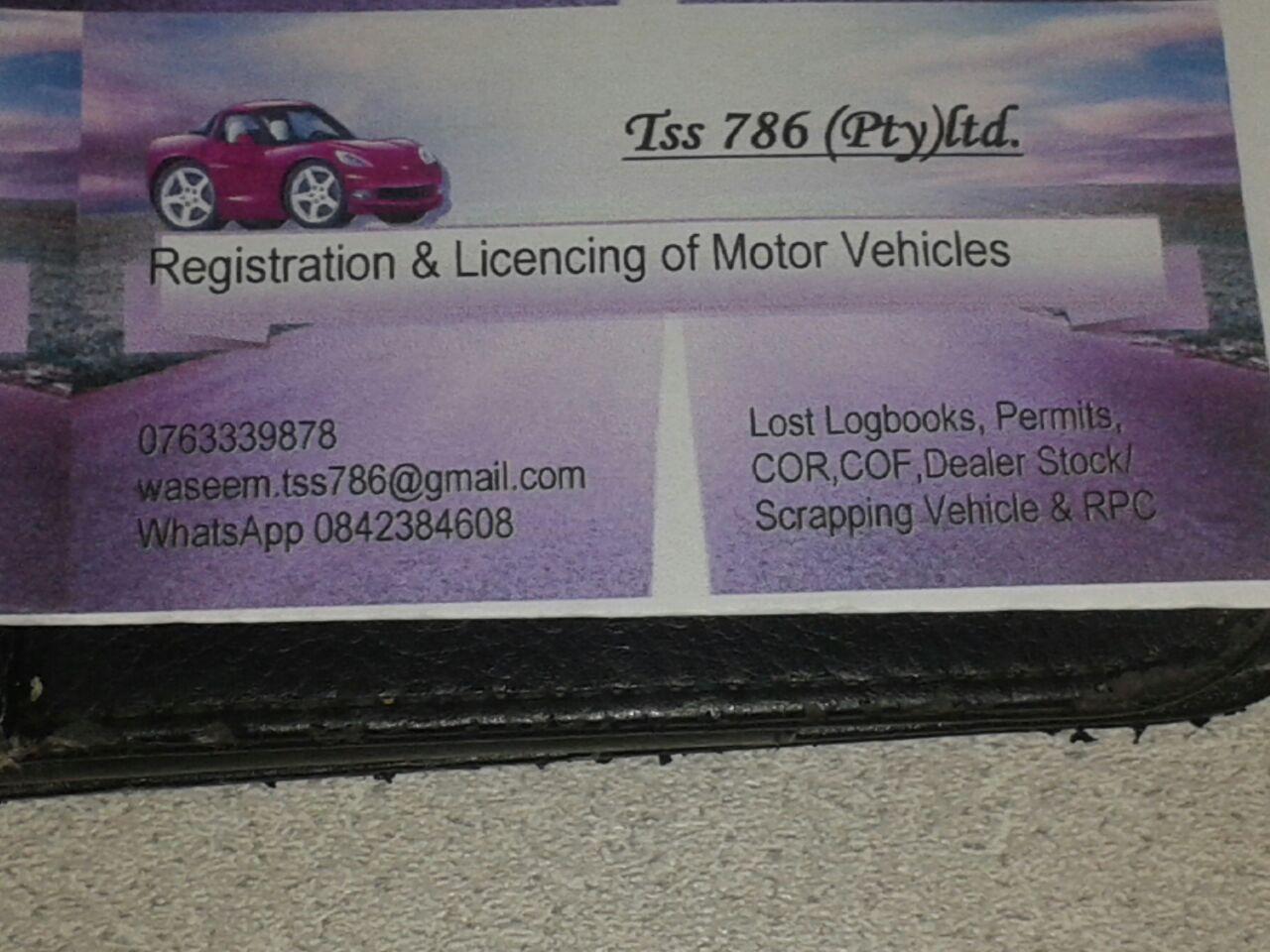 Vehicle Registration & Licence Renewal