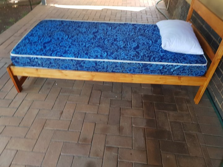 Pine Bed, Matress and Bedding,