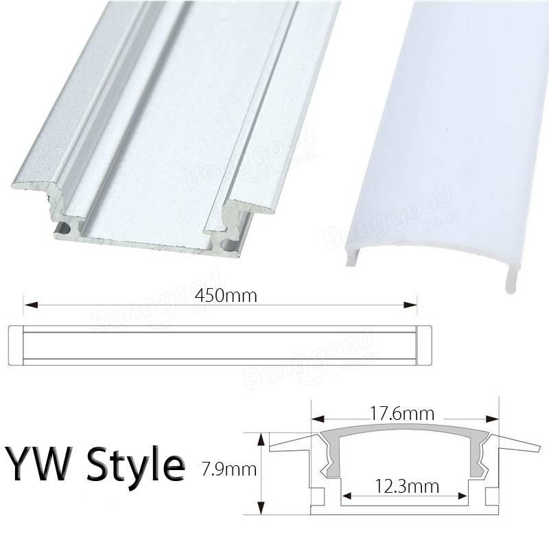 YW Style Aluminum Strip Holder For LED Rigid Strip Light