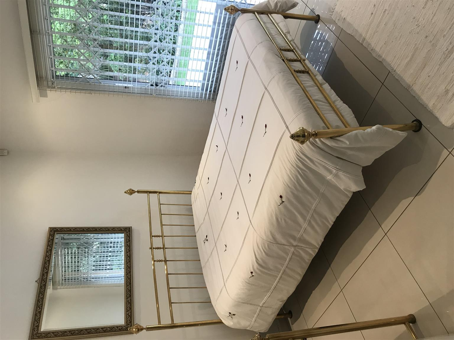 Brass Bed Double with Dressing Table