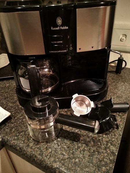 Russell hobbs 3 in 1 coffee, cappuccino & espresso machine