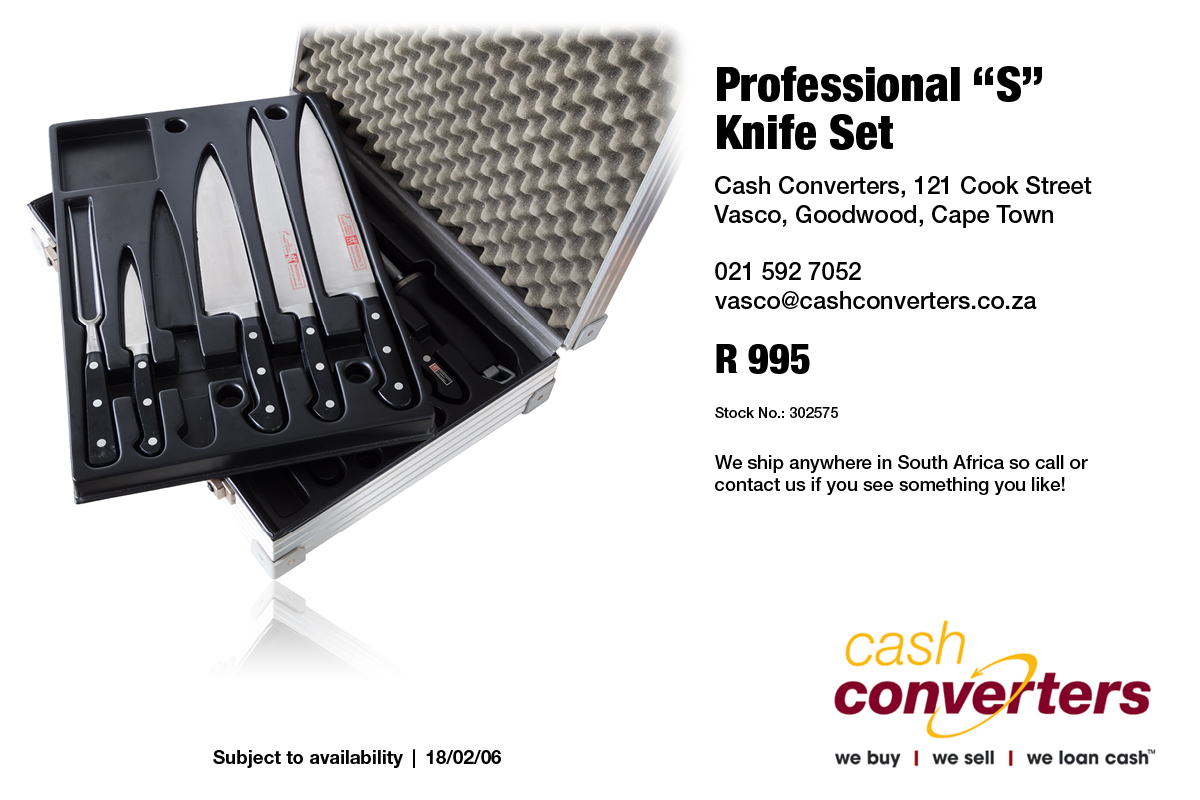 "Professional ""S"" Knife Set"