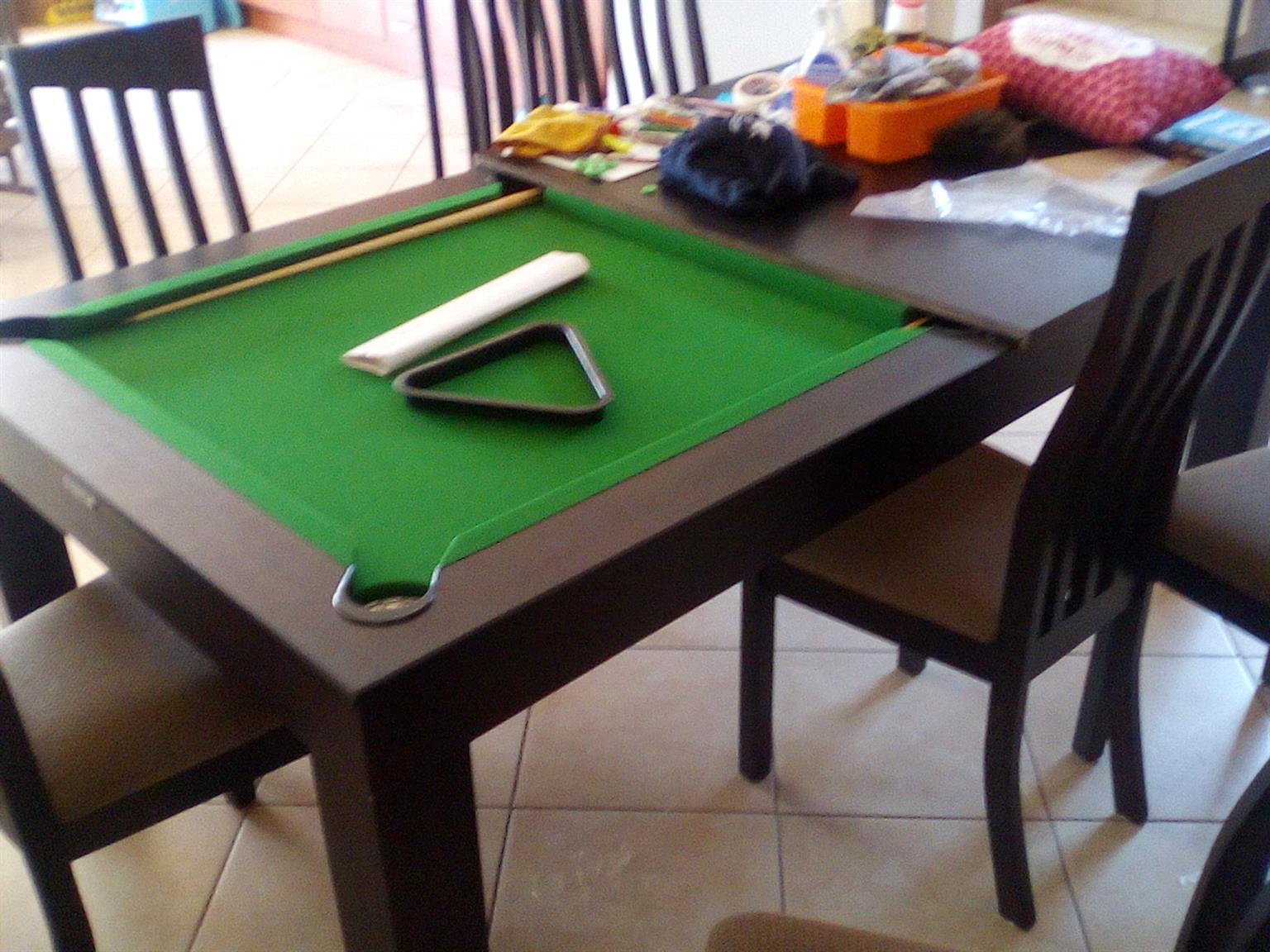 Dining pool table 8 x chairs for sale