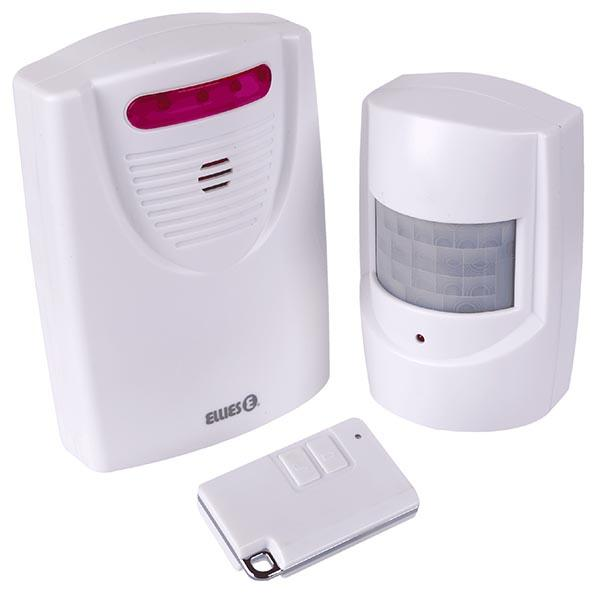 Battery Operated PIR Motion Wireless Alarm With IR Remote
