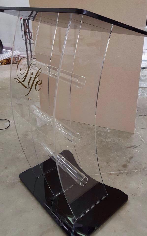 3-Leg Acrylic Tubing Pulpits
