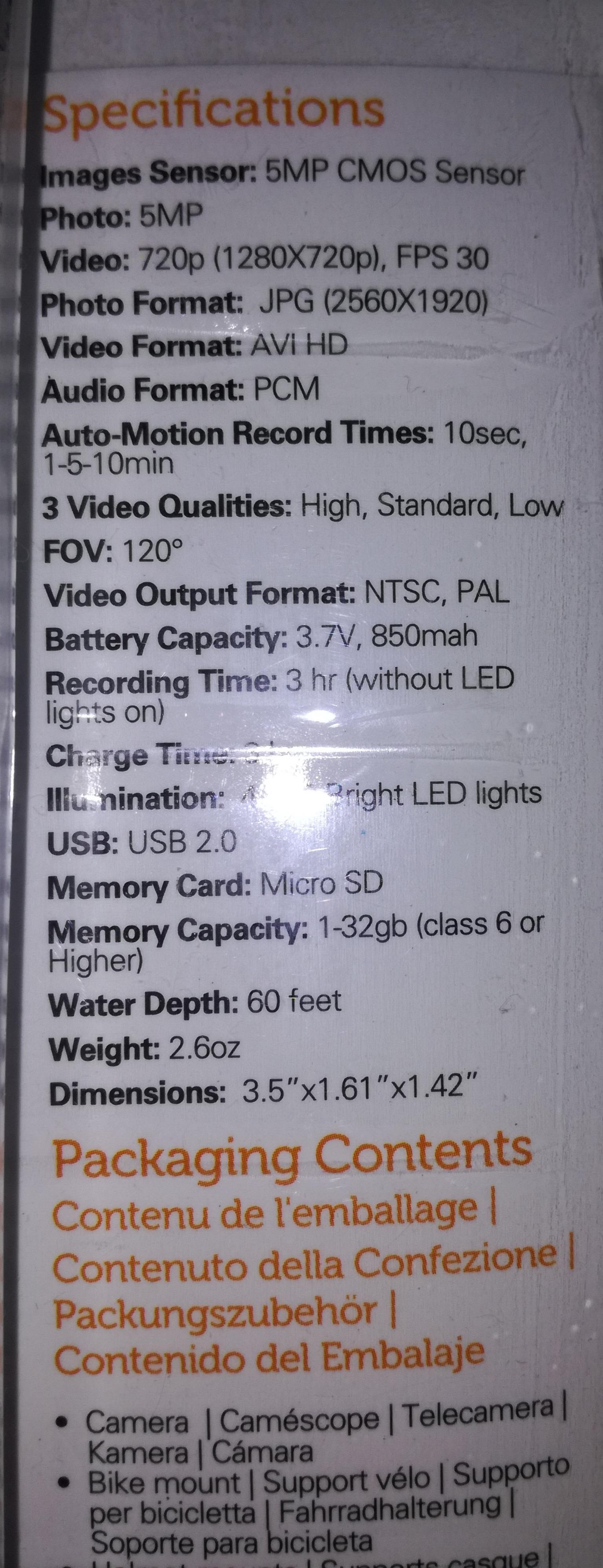 Polaroid HD Action Camera Brand New