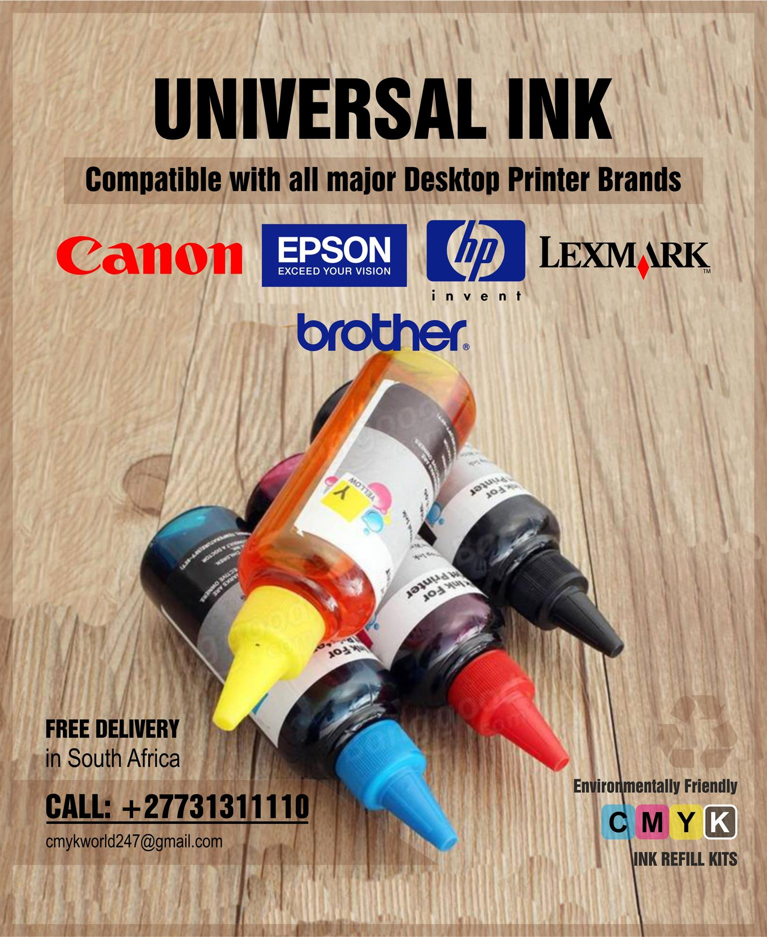 Universal Refill ink compatible with printer models
