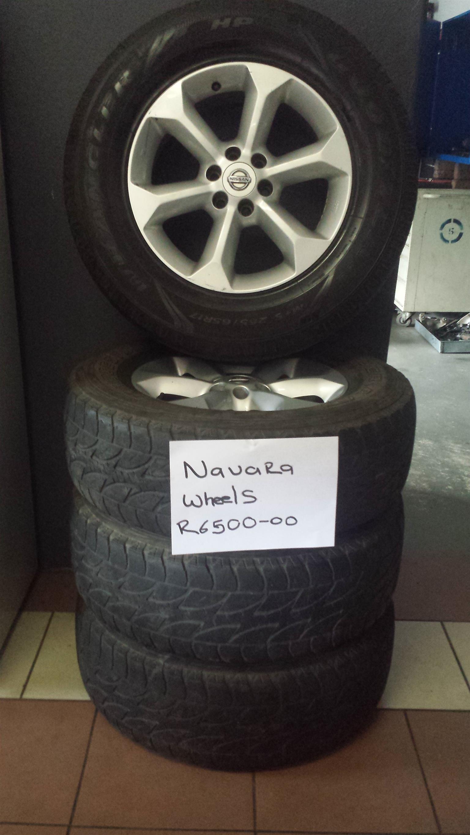 Navara wheels for sale R6500