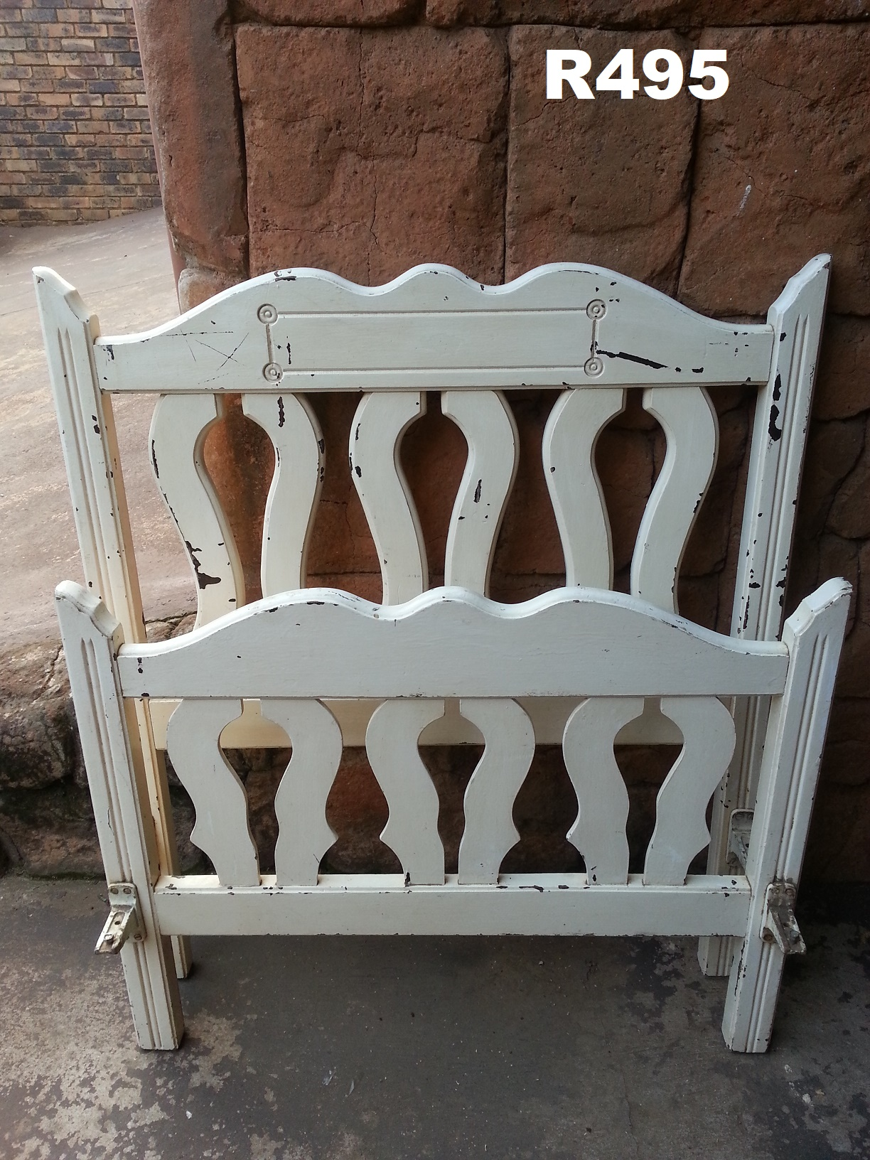 Antique Single Bed Head and Footboard