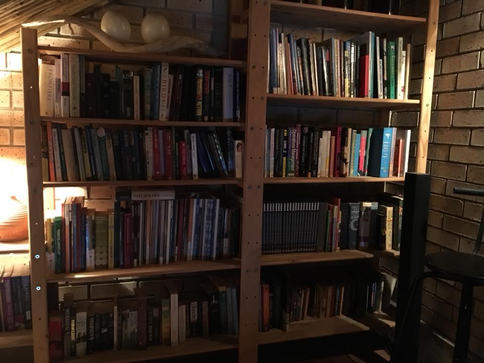 Big light wooden shelf