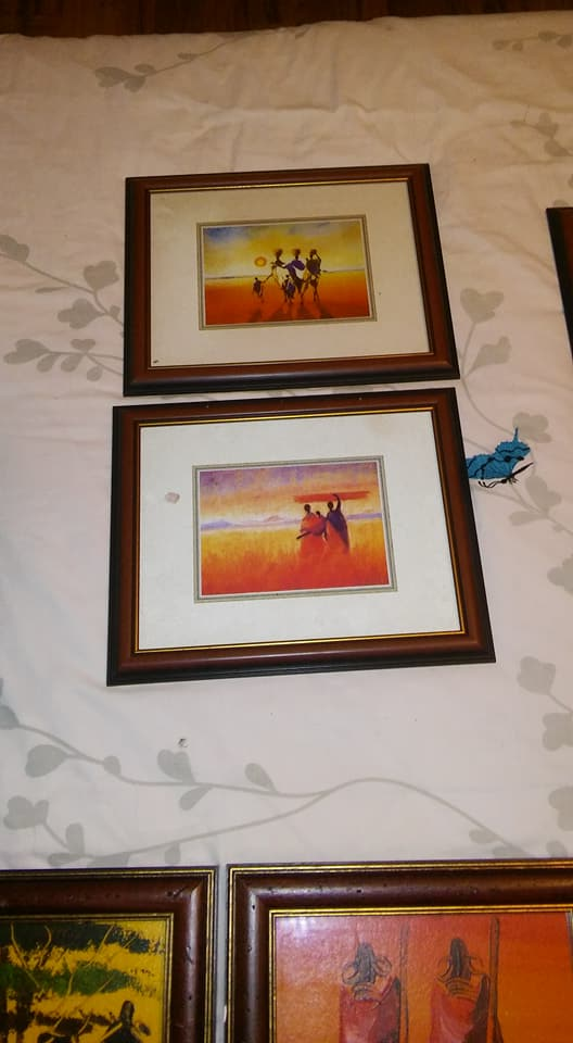 African sunset paintings