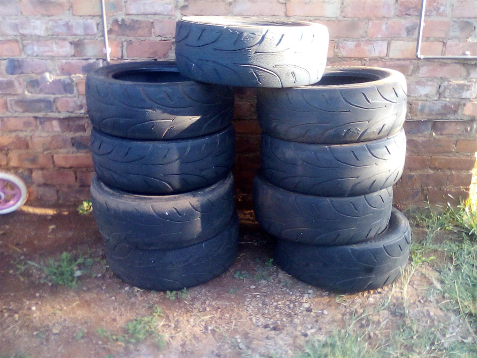 195/55/15 Bridgestone Potenza Semi Slicks