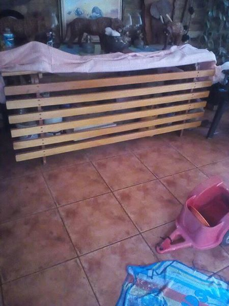 Double wooden headboard for sale