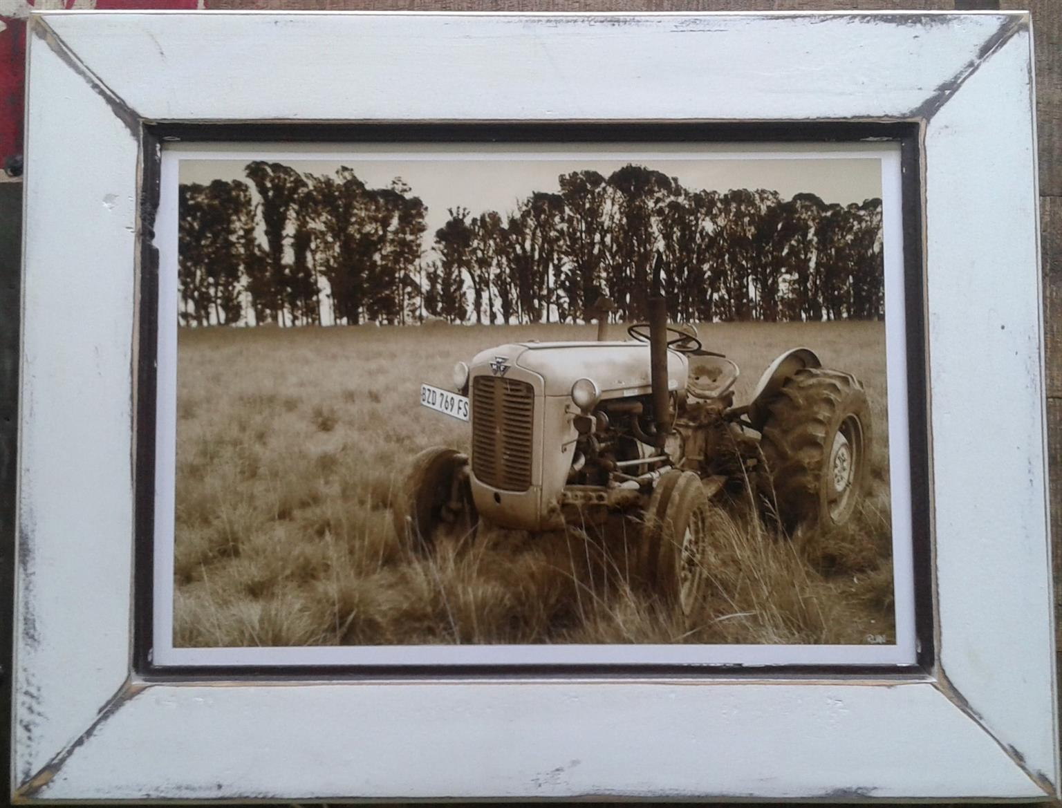Framed Print: Tractor. Wall art. Home decor.