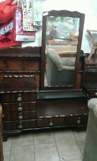 Antique slaap kammer stell bedkassies met spiel taffel