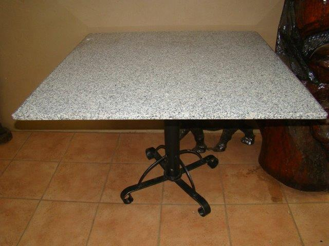 Squire Table with granite top