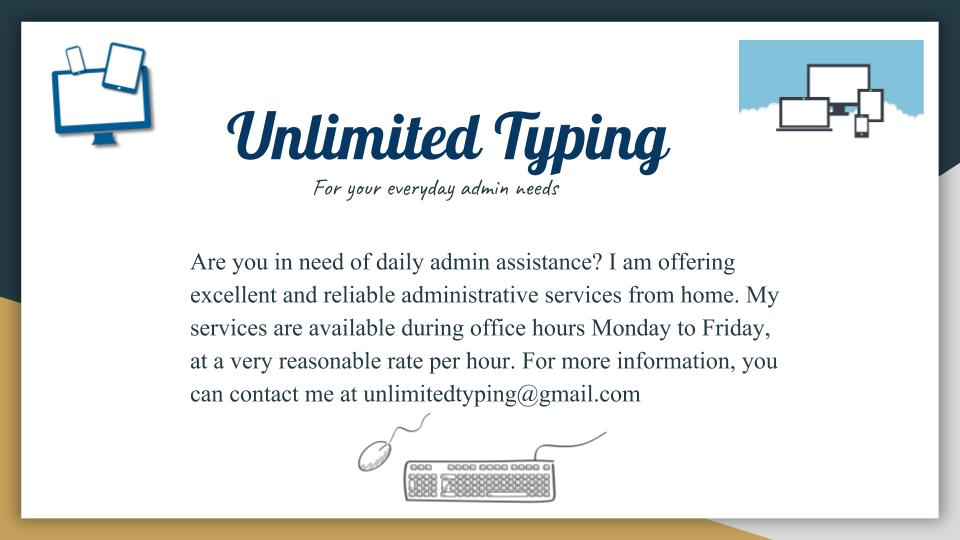 Admin/Typing Services | Junk Mail