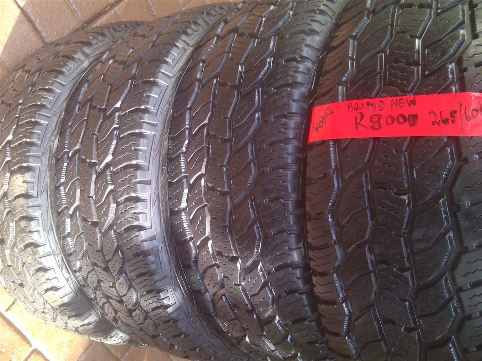 4xDiscoverer Cooper AT tyres 265/60/18,Brand new!!