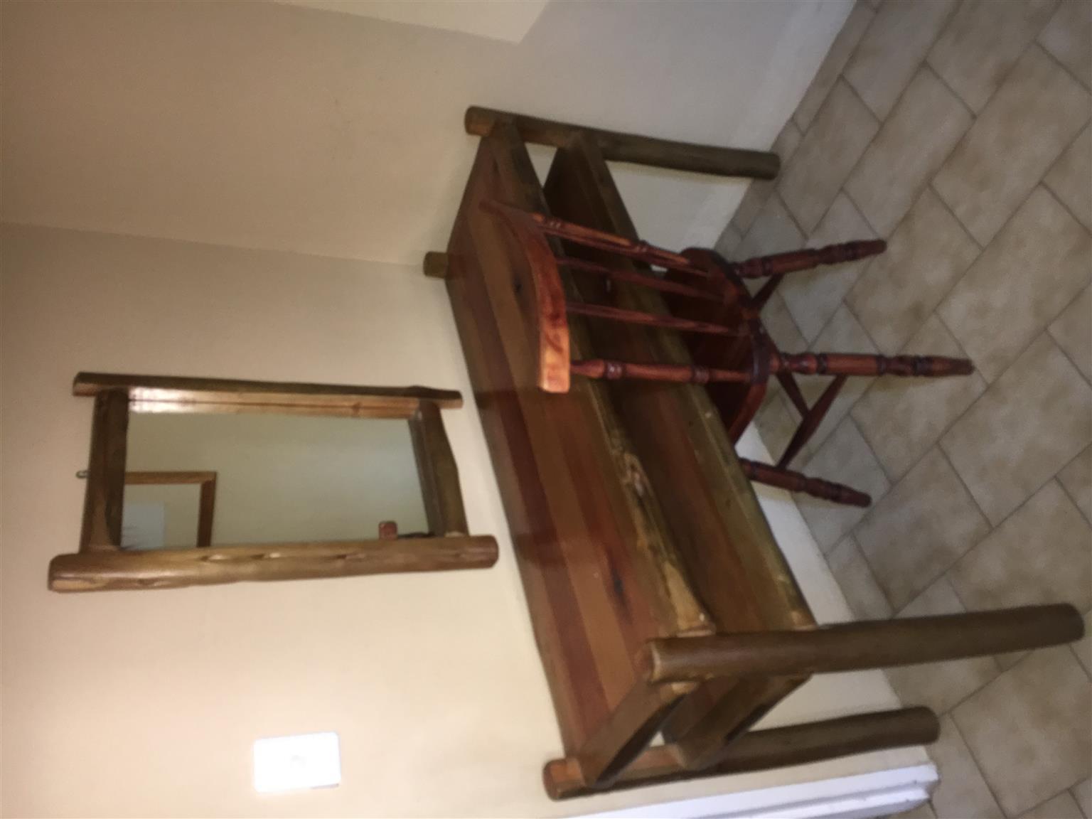 Various Log wood furniture for sales