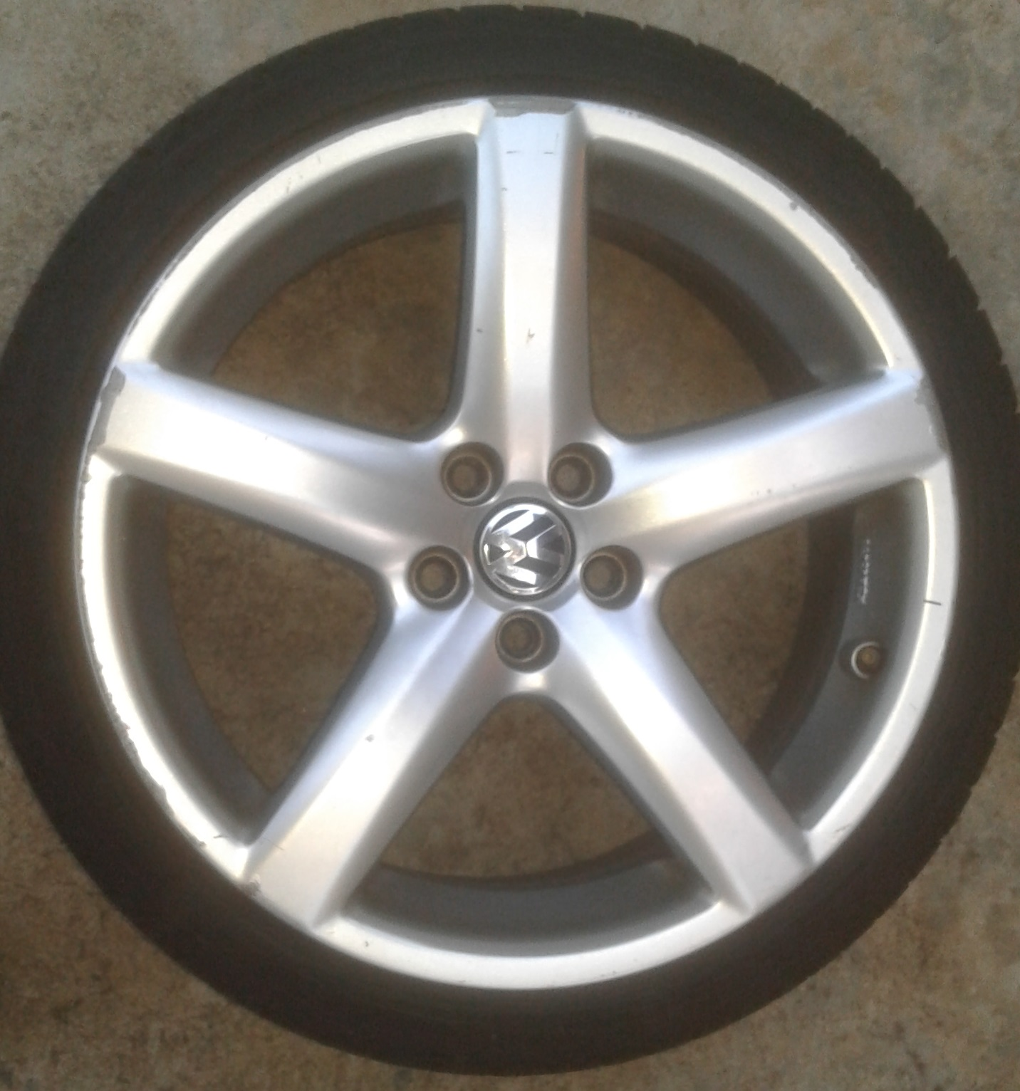 VW Mags 17inch with Sava Tyres 205/40/17 85% tread.