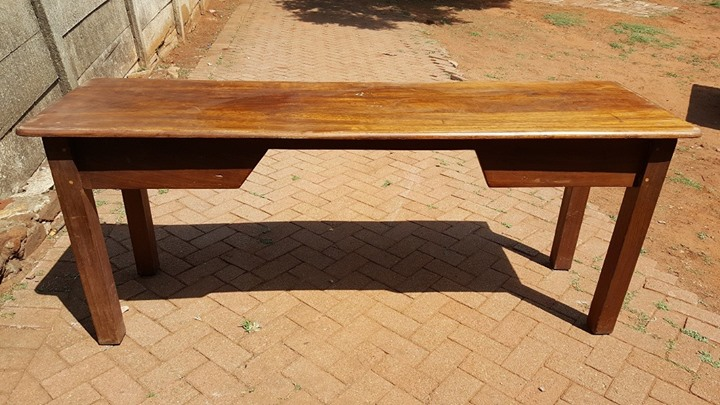 Narrow wooden table
