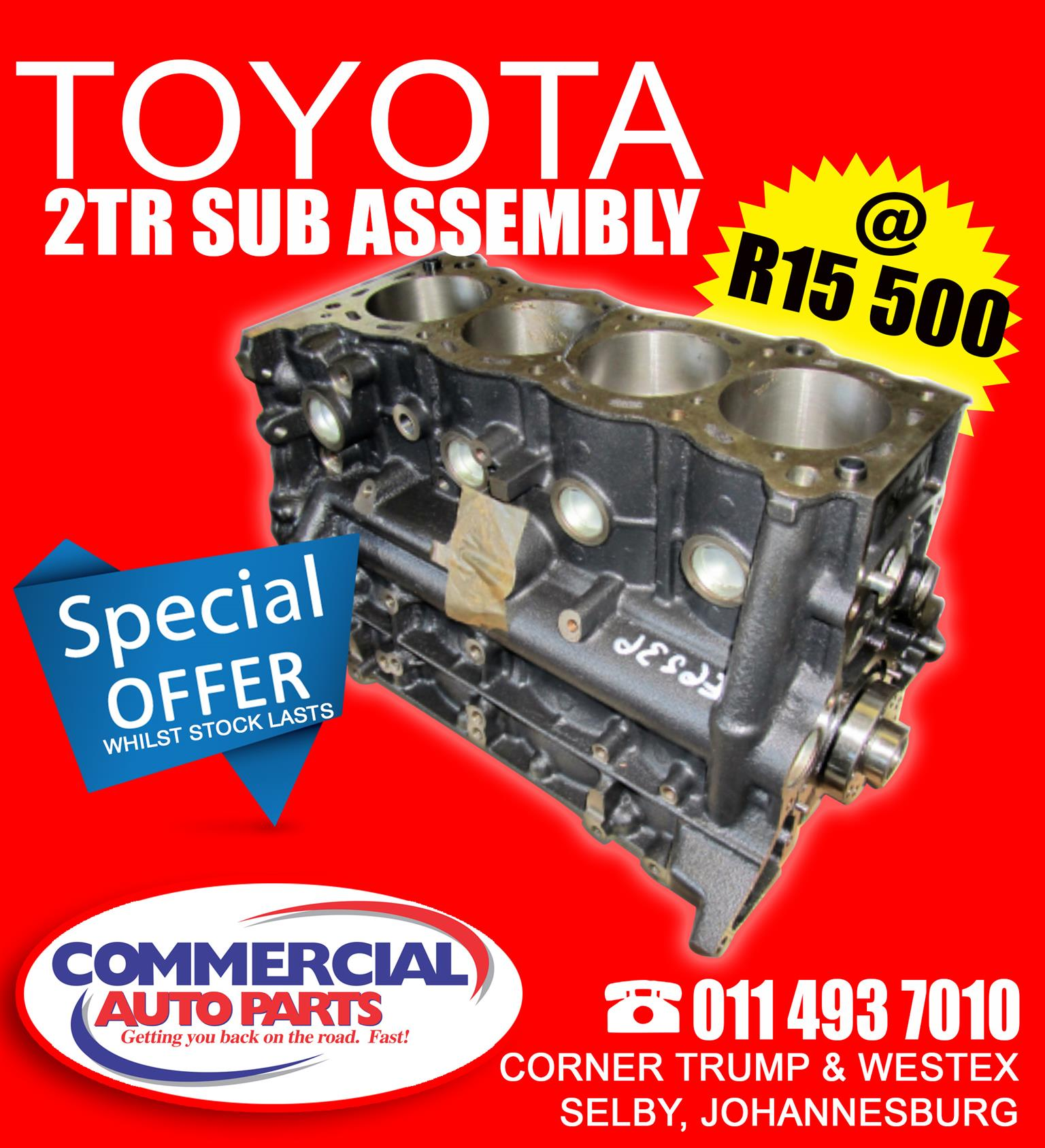 Toyota 2TR 2.7 Sub Assembly - New