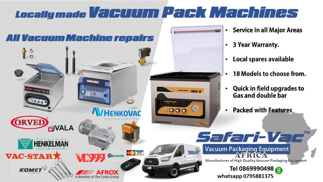 Vacuum Pack-Locally made- 3 year Warranty-Safari-Vac™