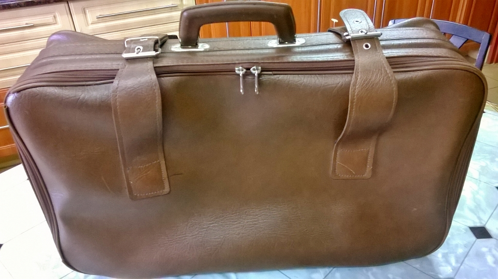 Leather Luggage Weekender Suitcase