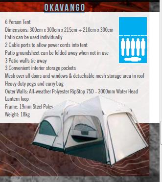 Six-man Okhavango camping tent