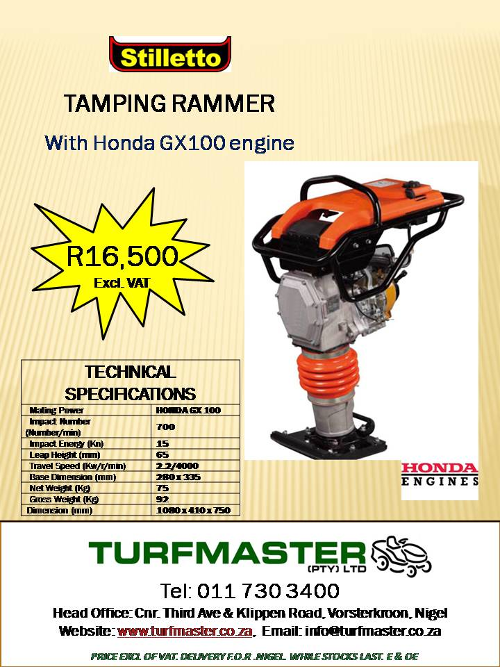 Tamping Rammer for Sale for sale  Other Gauteng