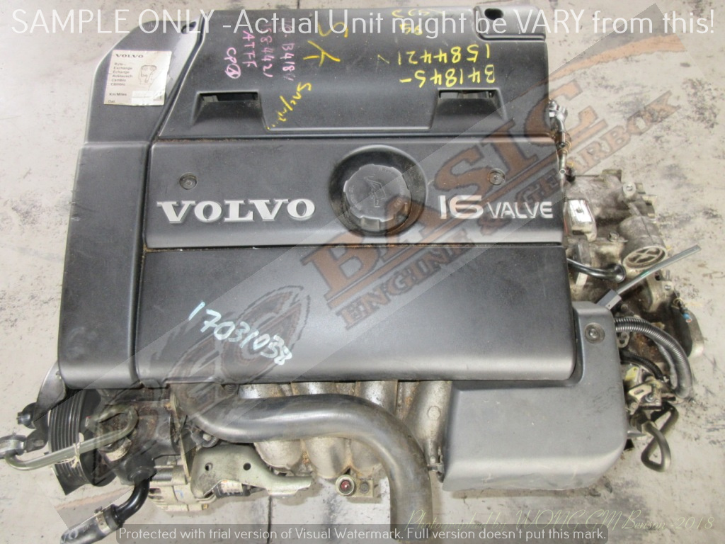 VOLVO S40 -B4184S2 1.8L EFI 16V Engine -(Exclude Gearbox)
