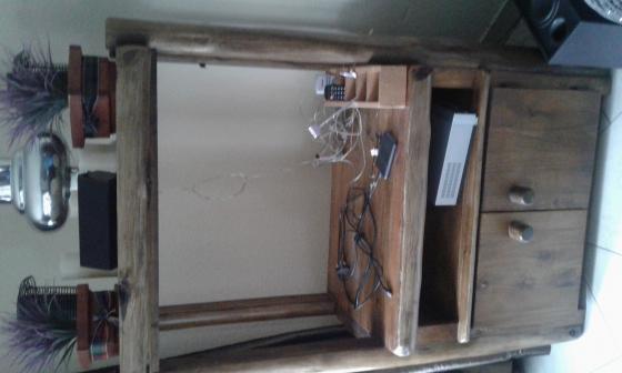 Log tv cabinet
