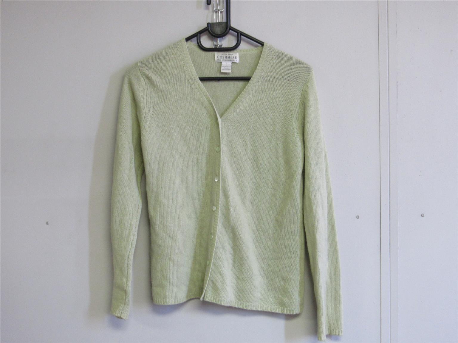 Cashmere Light Green Cardigan
