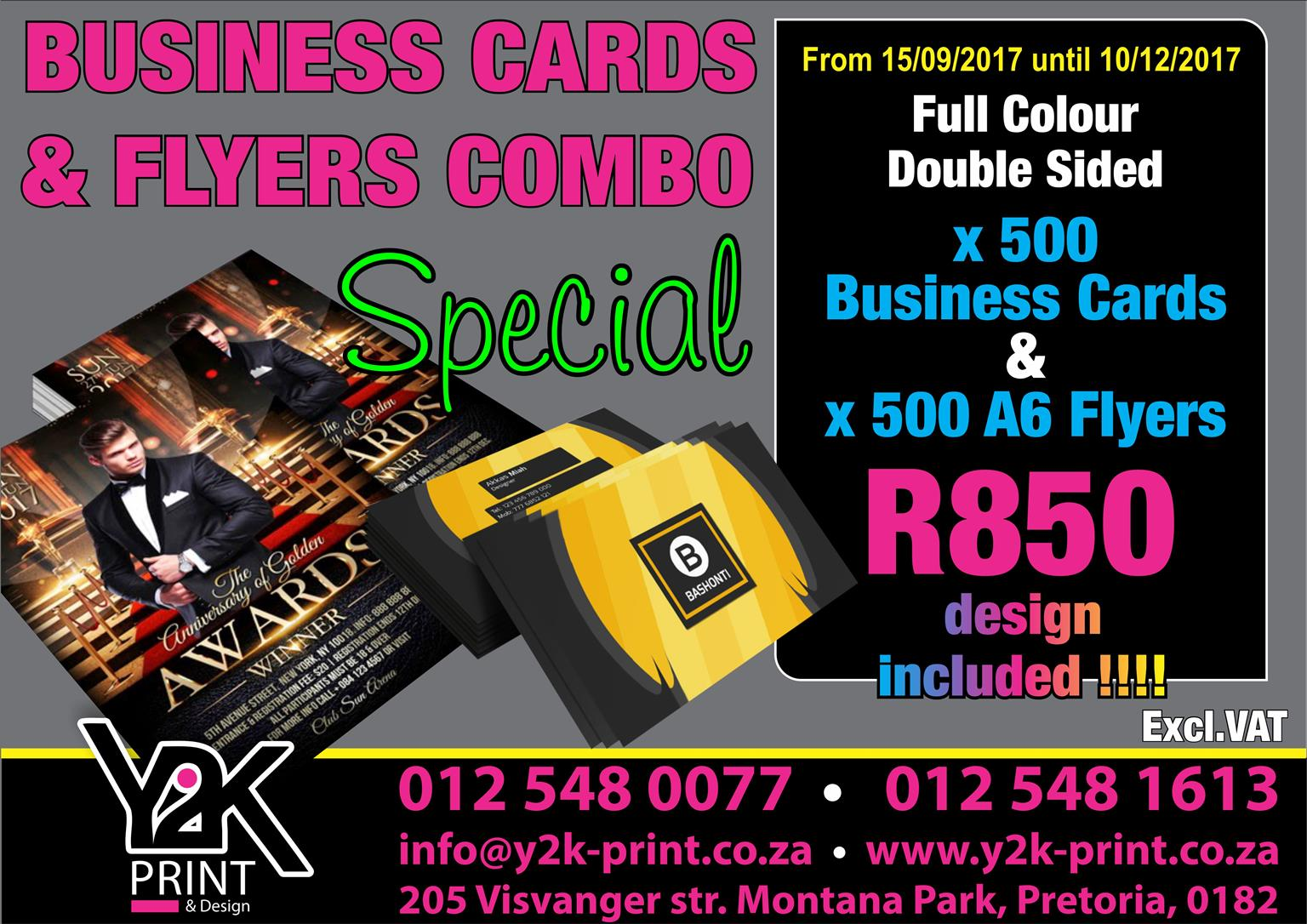 Business cards flyers full colour both sides junk mail business cards flyers full colour both reheart Image collections