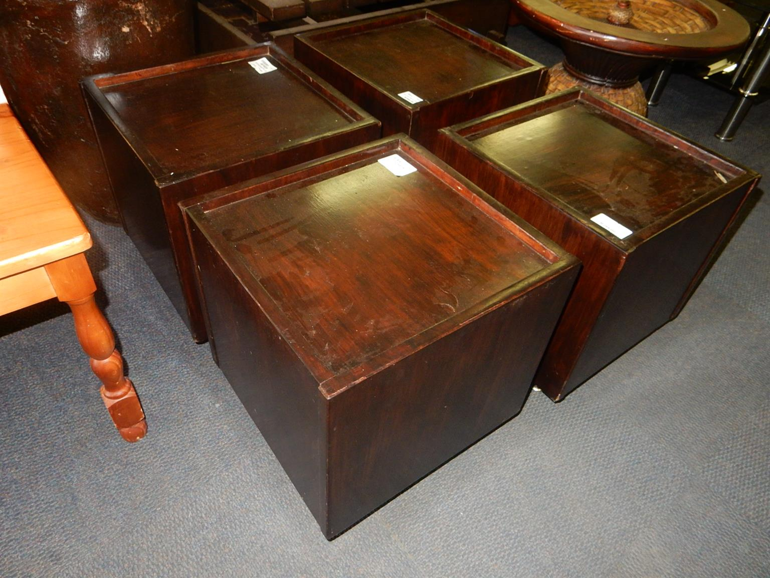 4 x Wooden Side Tables