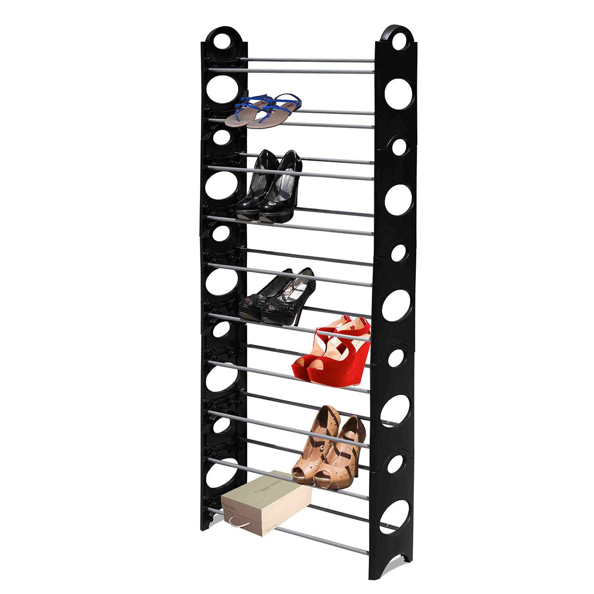 Shoe Rack - 10 Tier -Black