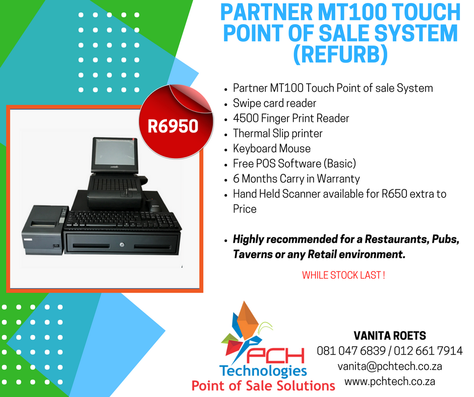 Partner MT100 Touch Point of Sale System (Refurb)