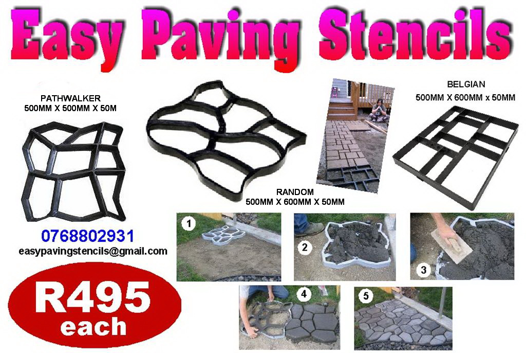 Easy Paving Stencils Paving Moulds Paving Molds Paving Stencils