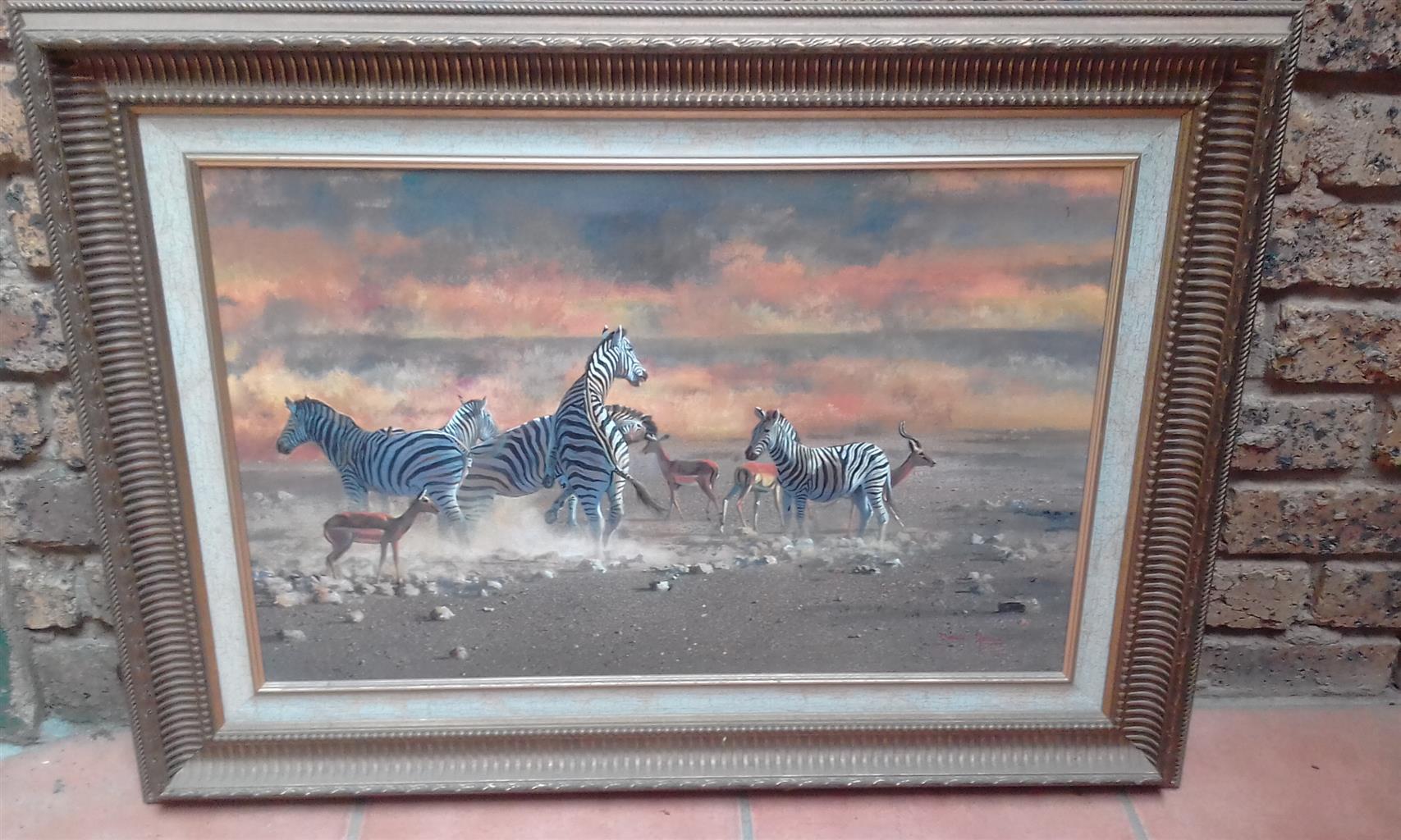 """Dawie Fourie """"Zebras"""""""