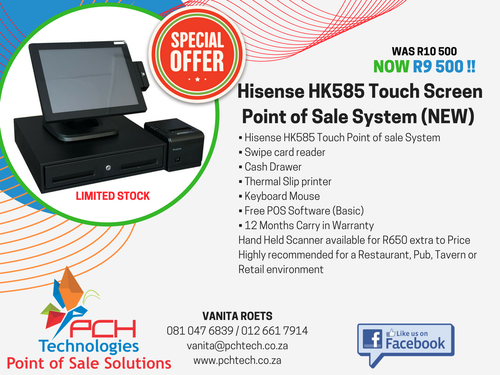Hisense HK585 Touch Screen Point of Sale System (NEW)