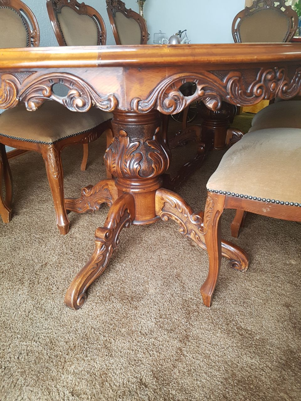 CHAIRS x 8 includes 2 x Carvers, TABLE ,SIDEBOARD  R35K