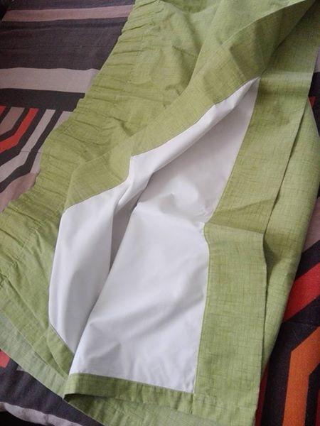 Groen gordyne te koop