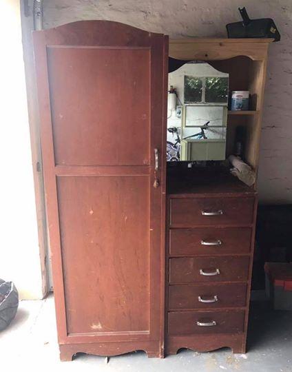 wooden wardrobe/ cupboard
