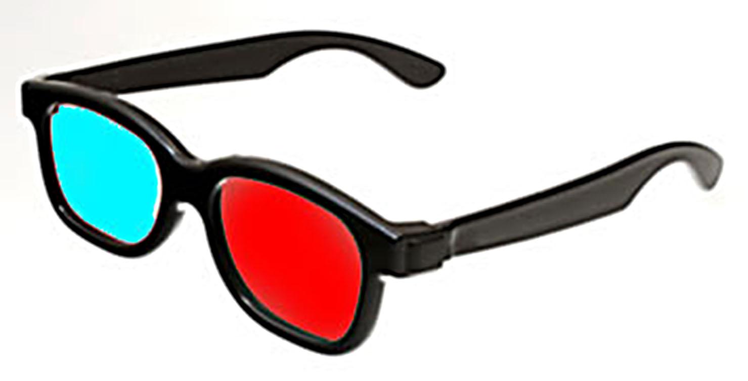 :: 3D Red Cyan Plastic Glasses (10 Packs) :: R 450